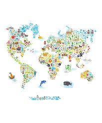 World Map Wall Decal by Pop U0026 Lolli Cultural World Map Wall Decal Zulily