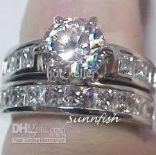 fancy wedding rings women mens wedding ring 14k white gold gp 2 6ct