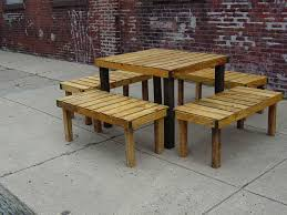 Patio Table Wood with Garden Ideas How To Build Pallet Patio Furniture Pallet Patio