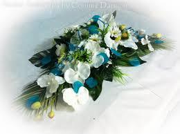 fleur artificielle mariage sk mariage fleurs artificielles bleu autel et table amborella