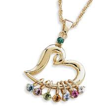 s day necklace with birthstone charms buy s heart birthstone charm necklace at limoges great