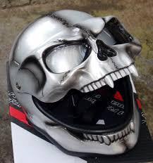 Skeleton Mask Silver Skeleton Skull Mask U2013 Custom Airbrush Helmet