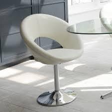 Retro Swivel Armchair Retro Circles Dining Chair Cream Dwell