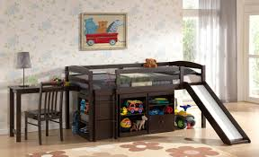 Plans For Loft Bed With Slide by Mulberry Boys U0026 Girls Cabin Loft Beds With Slide Desk U0026 Storage