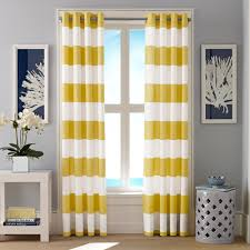 cabana stripe yellow curtain panel set nautica