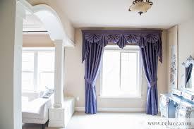 renaissance arabesque purple paris salon cascade swag valance