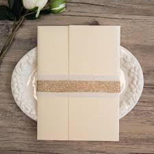 wedding invitations glitter gold glitter dots and arrow pocket wedding invitations ewpi205 as