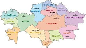 Map Of The States And Capitals by Regions Of Kazakhstan Wikipedia