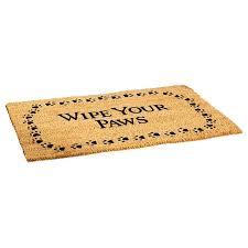 Welcome Mat Wipe Your Paws Decoir Door Mat Wipe Your Paws Wishbox