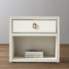 storage furniture dove shagreen open nightstand