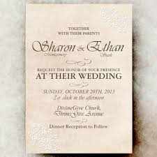shabby chic wedding invitation white flower lace wedding