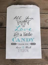 candy bar bags personalized wedding favor bags treat bags candy buffet bags by rootedmanor