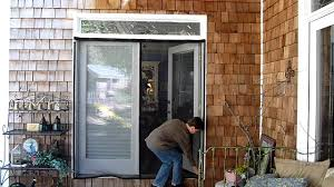 Magnetic Fly Screen For French Doors by French Door Screen Youtube