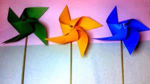 cara membuat origami kincir angin cara membuat kincir angin mini