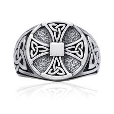 sterling silver celtic knot knights templar iron cross triquetra
