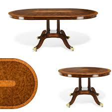 Yew Dining Room Furniture 48 Inch Round To Oval Walnut And Yew Banded Dining Table U0026 Leaf