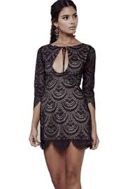 for love u0026 lemons rosalita mini dress in black