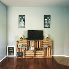 Simple Tv Stands Easy 50 Tv Stand Crates Diy Those Are The Days Pinterest