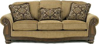 cream leather and wood sofa couch with wood trim daze cream leather sofa fabric sofas design