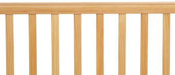 Natural Wood Convertible Crib by L A Baby Compact Wooden Window Convertible Crib With Mattress