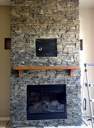 stacked stone tile fireplace decoration ideas cheap contemporary