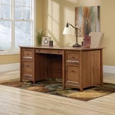 Executive Office Desks Amazon Com Sauder Edge Water Executive Desk In Auburn Cherry