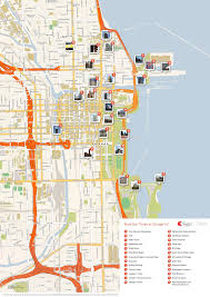 chicago map with attractions chicago printable tourist map sygic travel