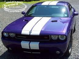 2014 dodge challenger plum purple purple dodge challenger with white racing stripe graphics