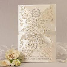 gatefold wedding invitations intricate lace laser cut day gatefold wedding invitation