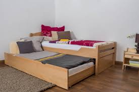 Single Bed Frame With Trundle Single Bed Easy Sleep K1 H With Trundle Bed Frame And 2 Cover