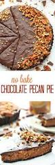 thanksgiving chocolate no bake chocolate pecan pie recipe