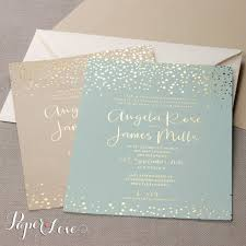 mint wedding invitations awesome gold foil confetti wedding invitation mint paper