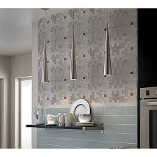 aluminum backsplash kitchen mosaic tile grey square brushed aluminum panel metal wall