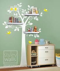 Etsy Wall Decals Nursery Shelf Tree Wall Decal Shelving Tree Wall Decal For Baby Nursery