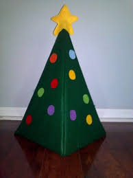 3 dimensional felt tree 18 small felt ornaments and