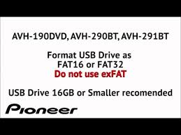 how to video and audio from usb on pioneer avh 290bt avh