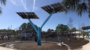 new solar trees at fort mellon park turn sun s rays into power