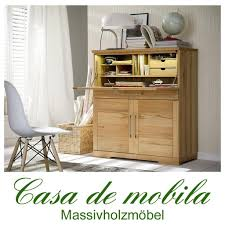 Massivholz Schreibtisch Buche Echtholz Sekretär Büroschrank Holz Kernbuche Massiv Geölt Palermo