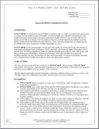 hipaa policy template template design