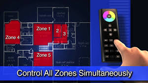 multi zone wifi led lighting control wirelessly with smartphone