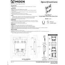 Moen Shower Valve Moen S3104 U By Moen Shower No Finish One Handle Thermostatic