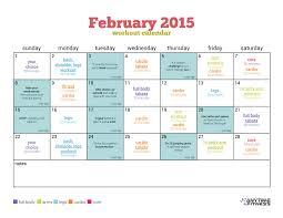 february 2015 workout calendar