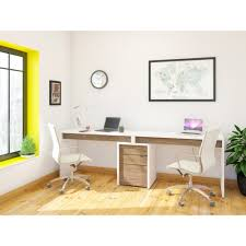 amazon com nexera liber t 2 person desk with filing cabinet and