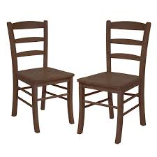 Dining Wood Chairs Winsome Wood Ladder Back Chair Light Oak Set Of 2