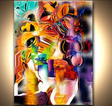 prints painting brown abstract print on canvas 9157