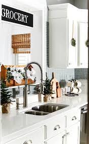 kitchen cabinet decorating ideas in the kitchen with mini wreaths it all started