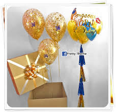 balloons in a box pretty theme event planner packages