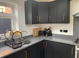 painting kitchen cabinets frenchic who couldn t afford a new 10k kitchen transforms hers