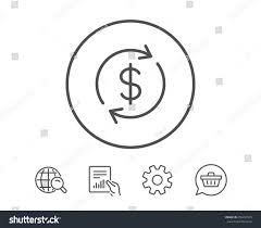 currency exchange line icon money transfer stock vector 659457529