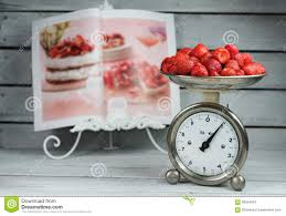 vintage kitchen scale with fruit stock images image 34906234
